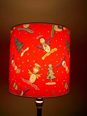 Here Is A Christmas Lampshade Made By Wring Standard Wrap Around The Fotoshades Paper Was Bought At For Only 2 00